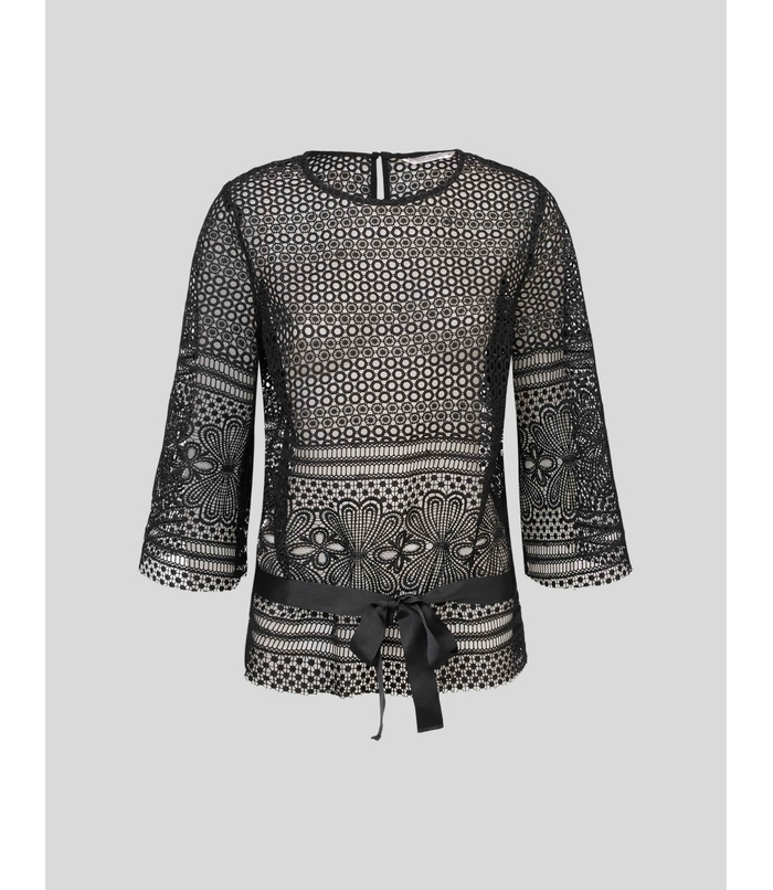 Top van broderie anglaise