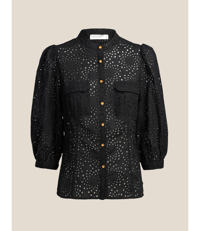 Blouse van broderie anglaise