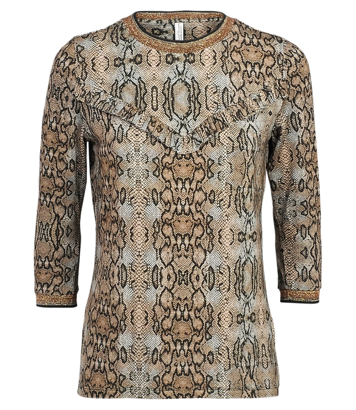 Top met slangenprint