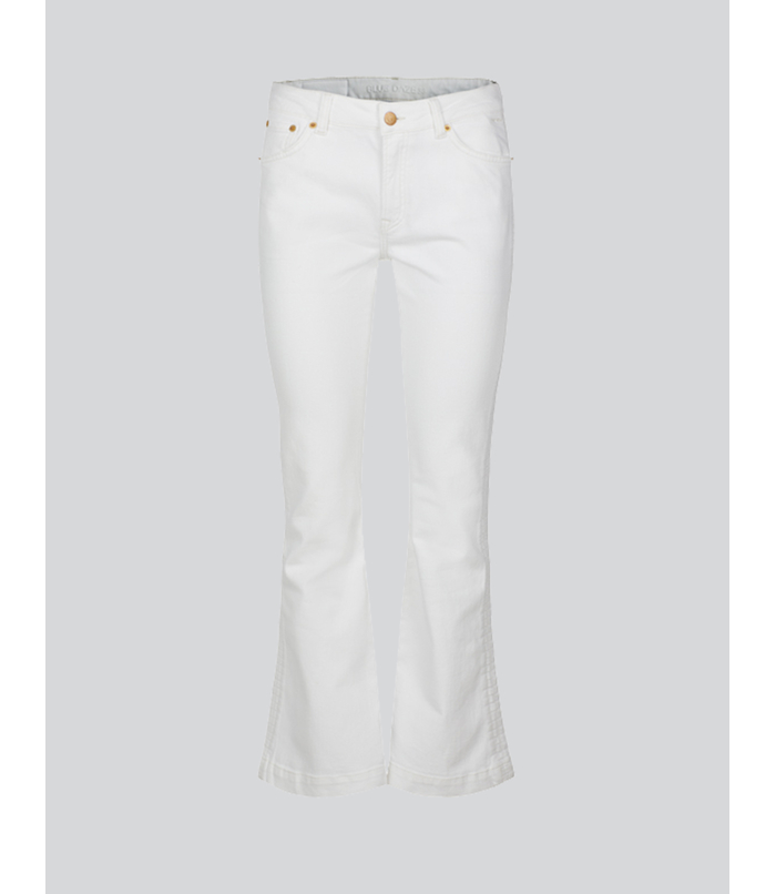 Witte flared jeans