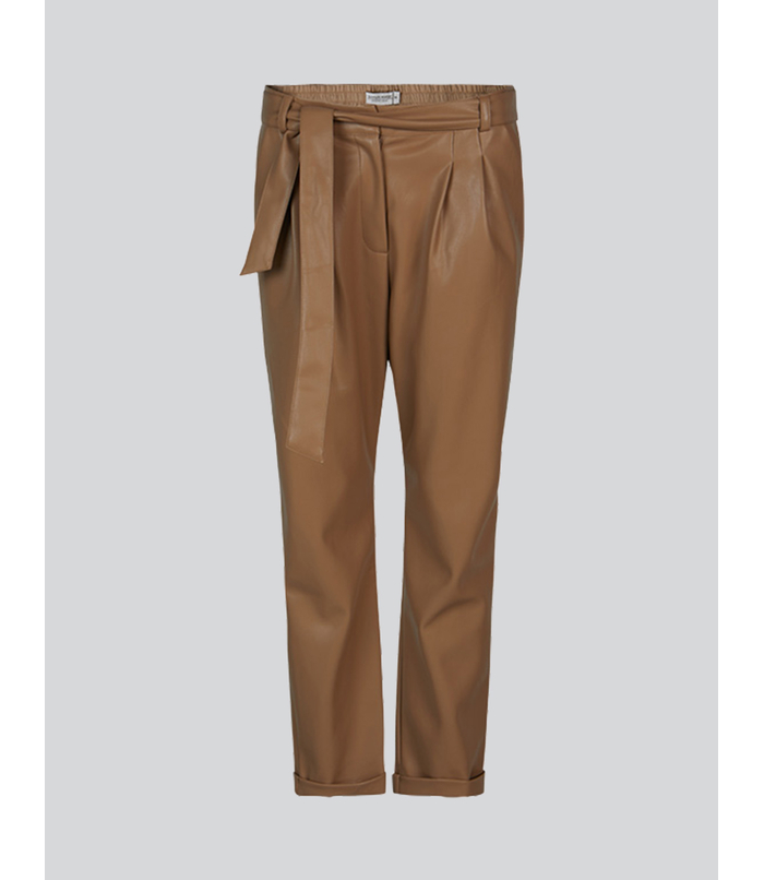 Faux leather broek