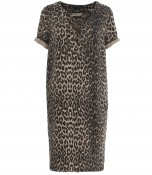 Dress with leopard print