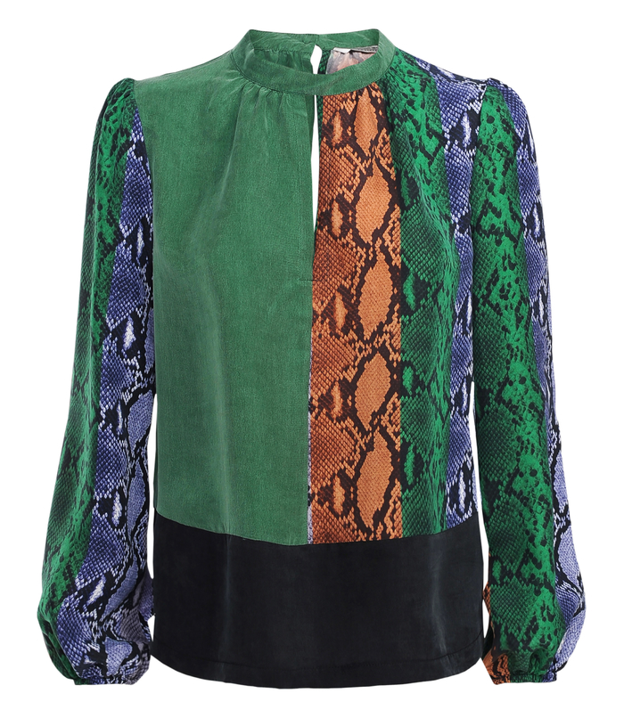 Top with snake print