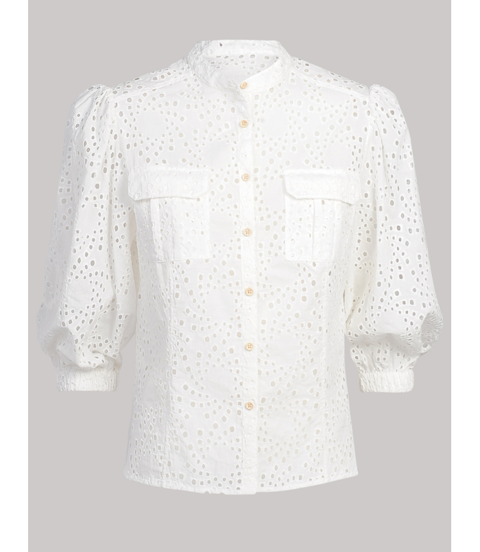 Blouse with embroidery anglaise