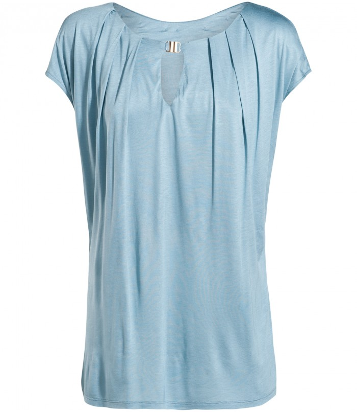 Top with capped sleeves