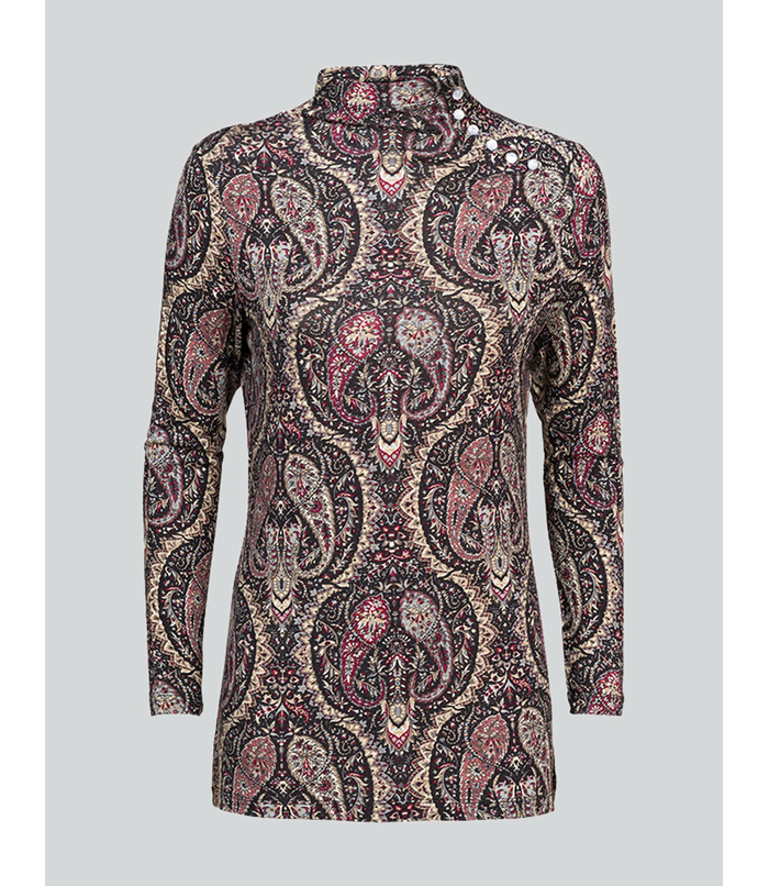 Top with paisley print
