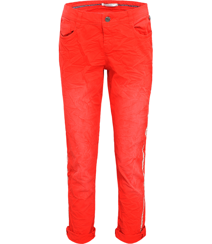 Trouser with piping