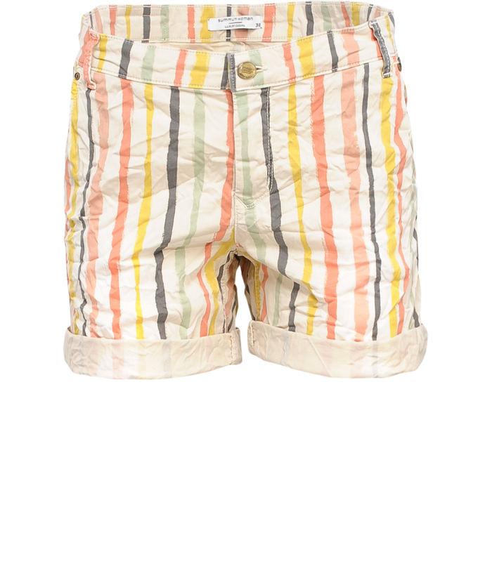 Short striped trouser