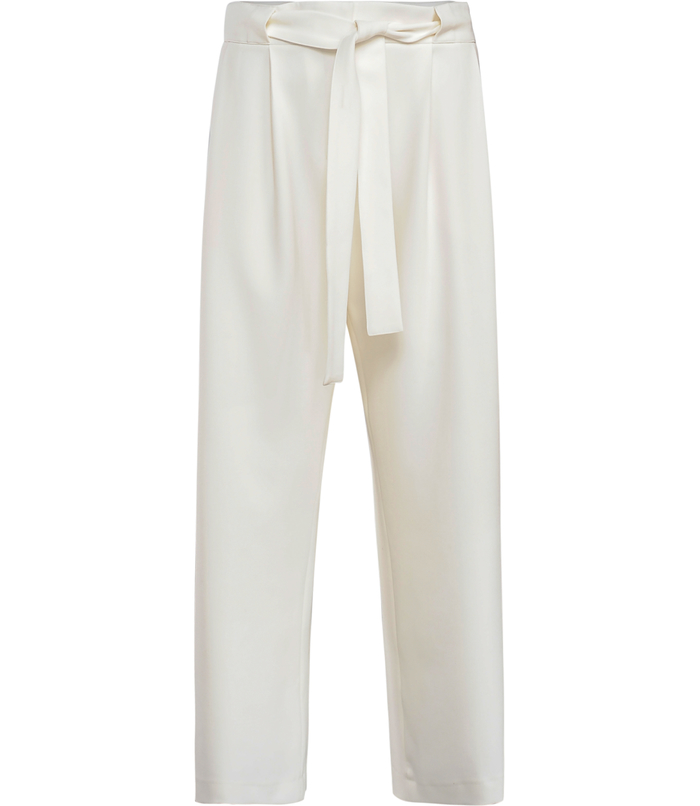 Wide-leg paper bag trousers