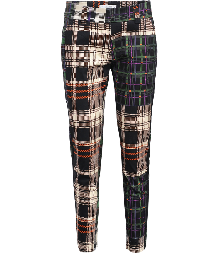 Trouser with patchwork print