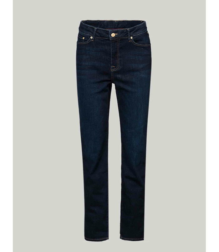 Dark denim trousers