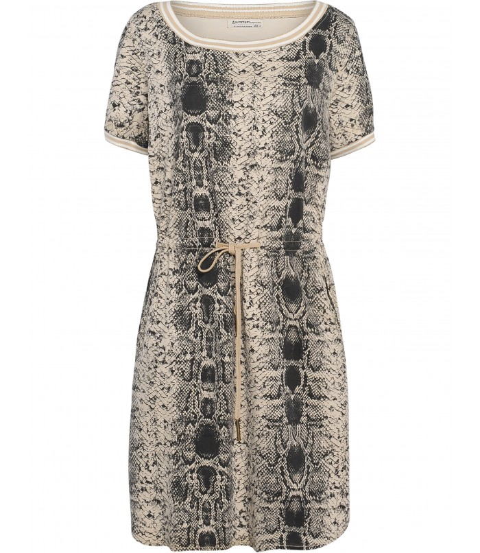 Dress with snakeskin print