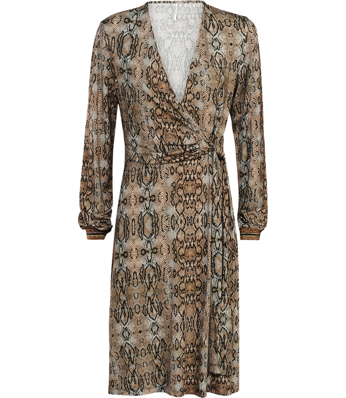 Wrap dress with snakeprint