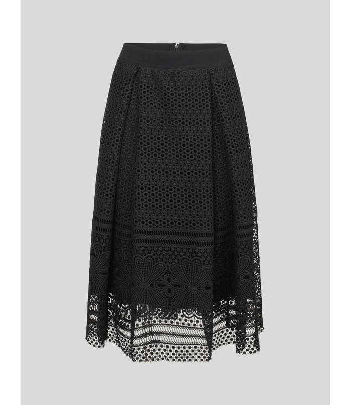 Skirt with embroidery anglaise