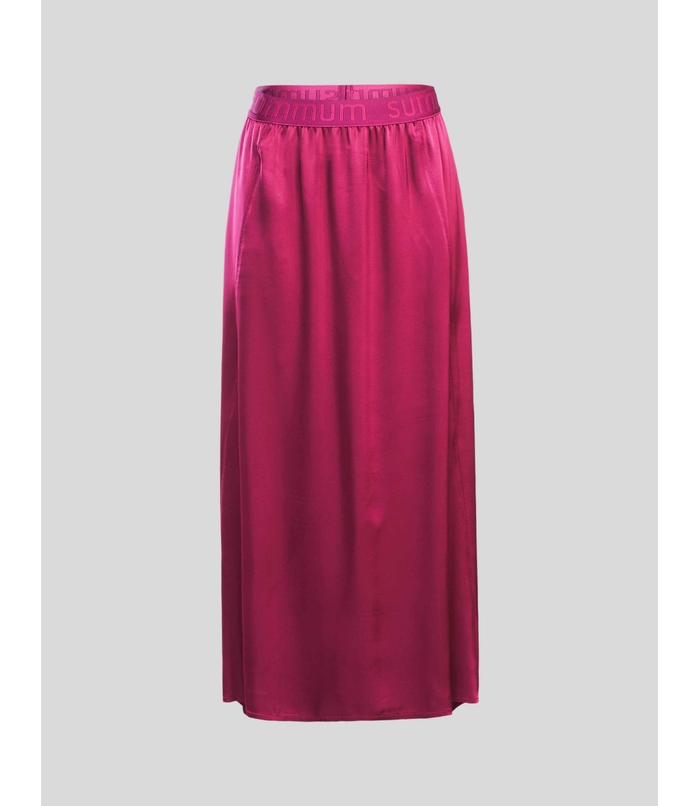 Long skirt with satin look
