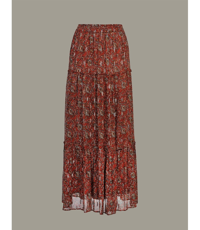 Maxi skirt with print