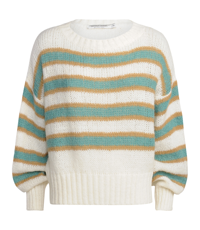 Oversized pullover with stripes