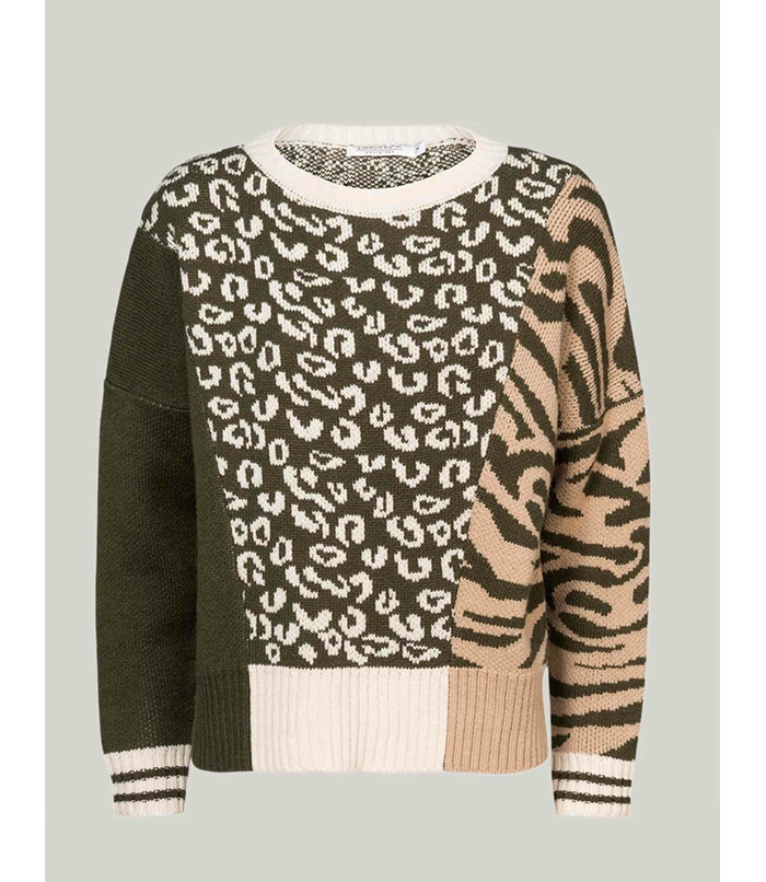 Cropped sweater with print