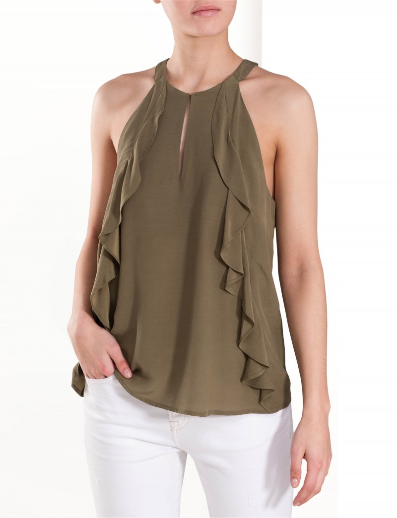 Singlet with ruffles