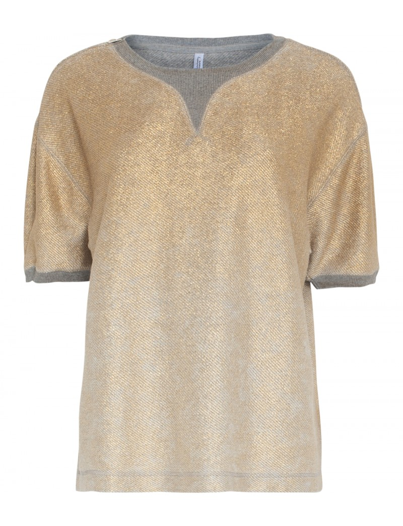 Metallic sweat-top