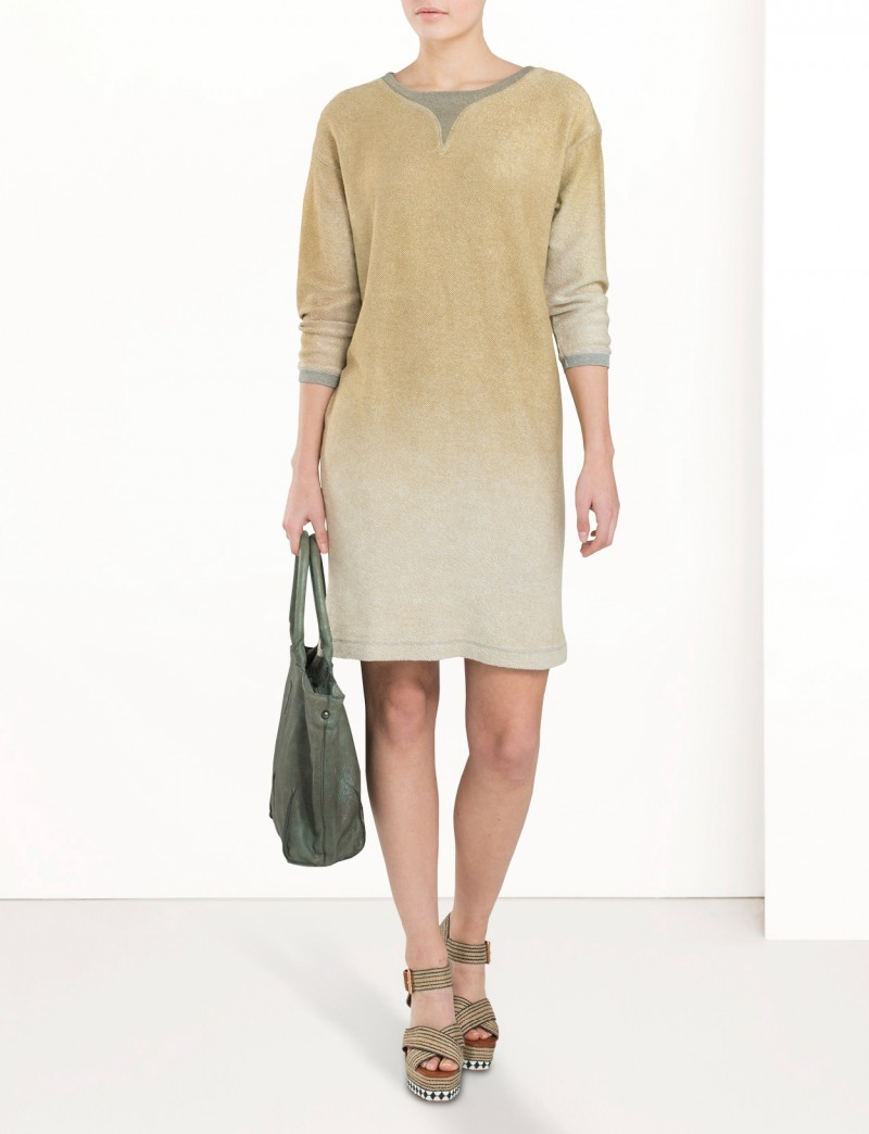 Metallic sweat-dress